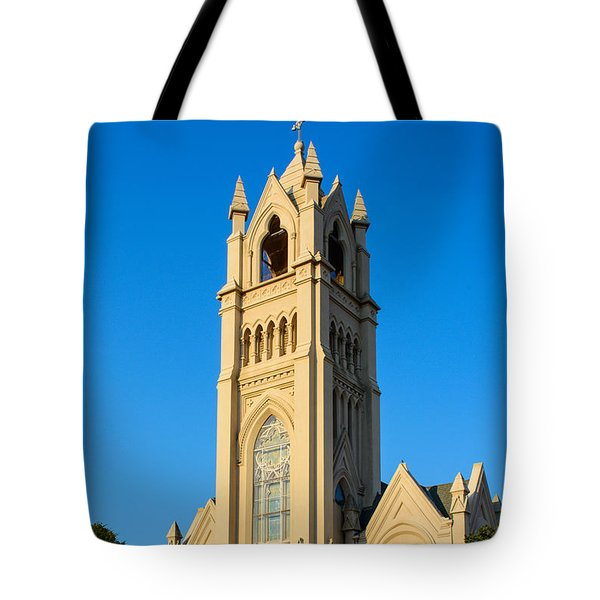 Saint Patrick Catholic Church Of Galveston Tote Bag by Tikvah's Hope