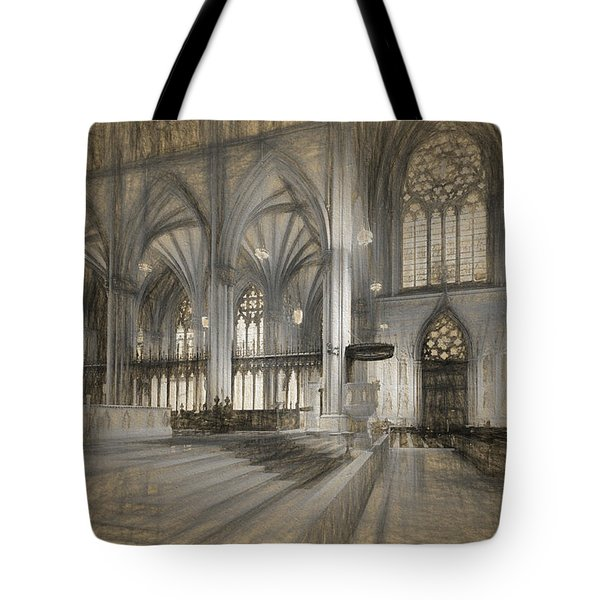 Saint Patrick's Cathedral In New York City Tote Bag