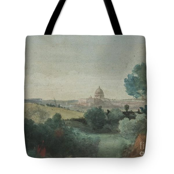 Saint Peter's Seen From The Campagna Tote Bag by George Snr Inness