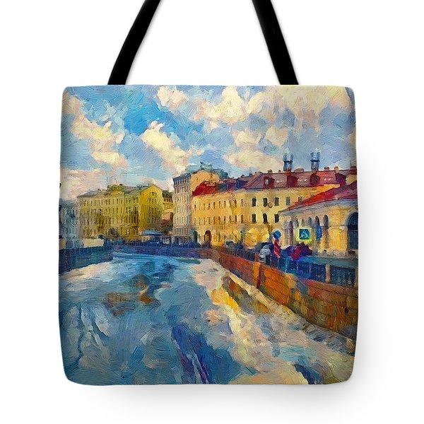 Saint Petersburg Winter Scape Tote Bag