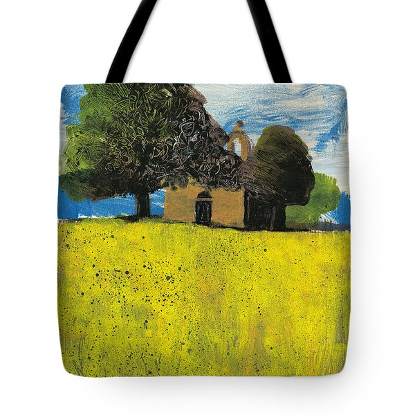 Tote Bag featuring the painting Saint Pierre At Pierrerue by Martin Stankewitz
