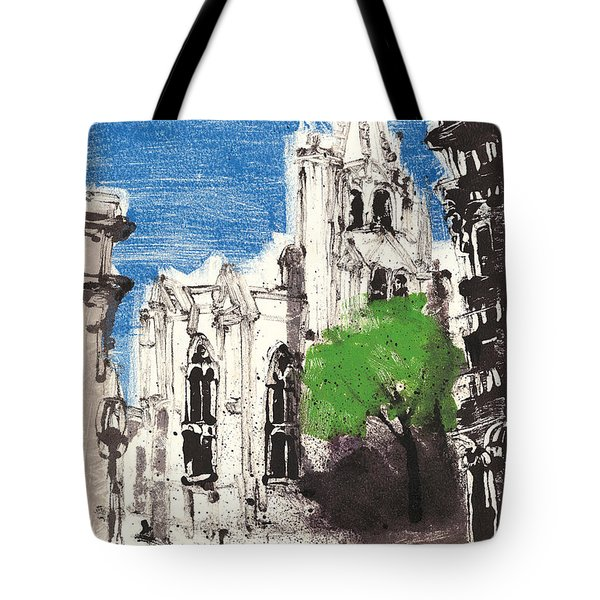 Tote Bag featuring the painting Saint Pierre Avignon Provence by Martin Stankewitz