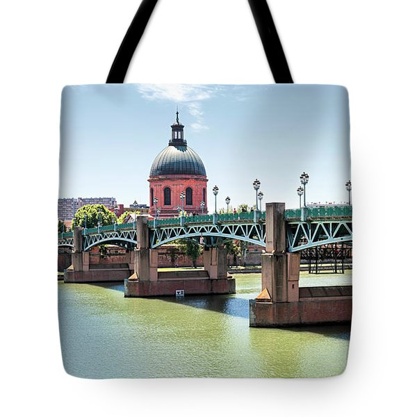 Tote Bag featuring the photograph Saint-pierre Bridge In Toulouse by Elena Elisseeva