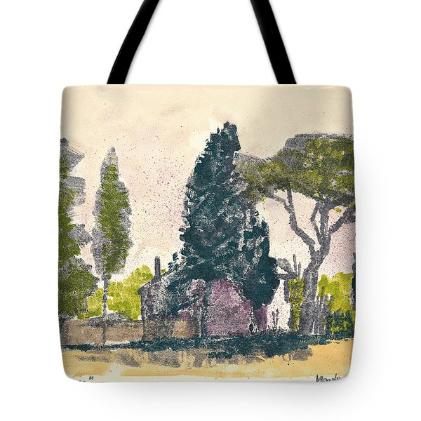 Tote Bag featuring the painting Saint Remy De Provence Landscape by Martin Stankewitz