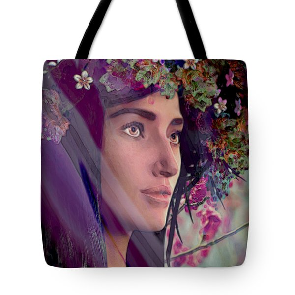 Saint Rose Of Lima 4 Tote Bag by Suzanne Silvir