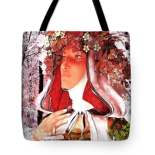Saint Rose Of Lima Noel Tote Bag by Suzanne Silvir