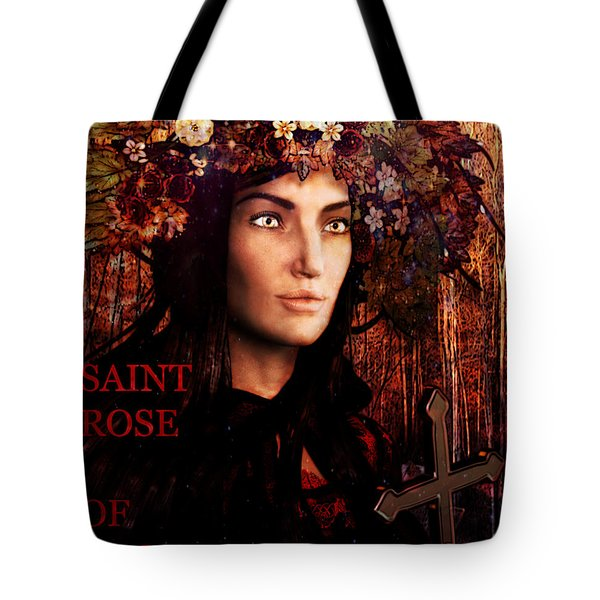 Saint Rose Of Lima Tote Bag by Suzanne Silvir