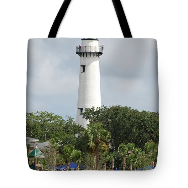 Saint Simons Island Light Tote Bag