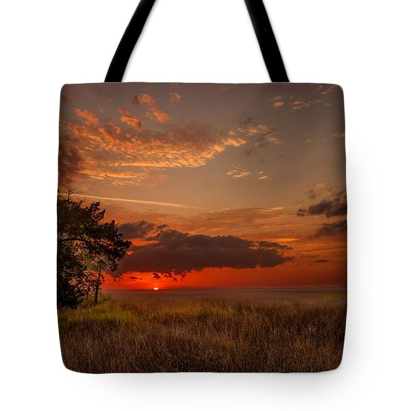 Saint Simons Island Salt Marsh Twilight Tote Bag