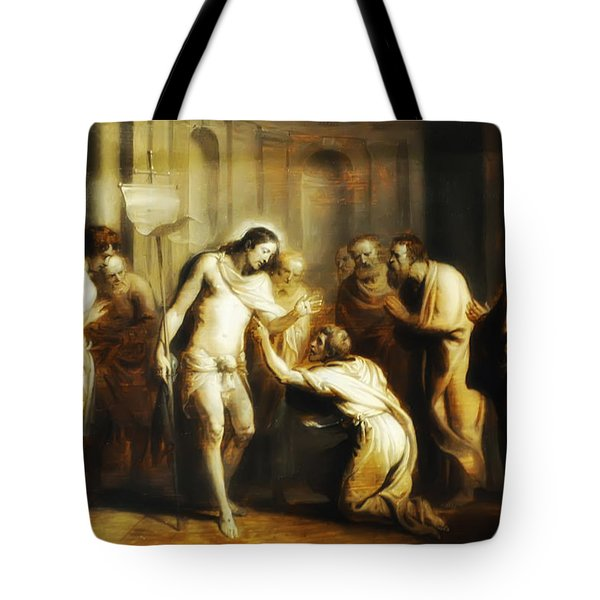 Saint Thomas Touching Christ's Wounds Tote Bag by Bill Cannon