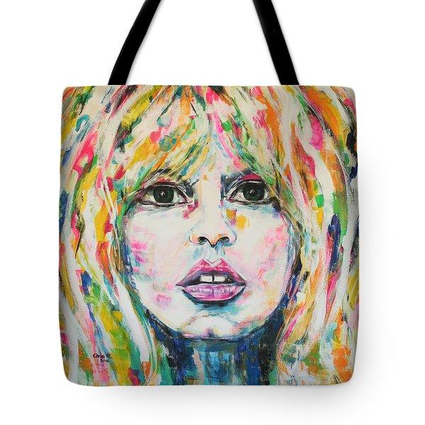 Saint Tropez Babe Tote Bag