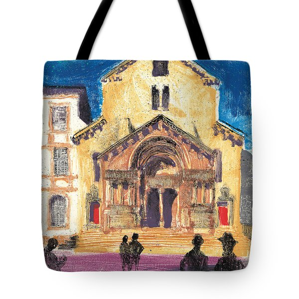 Tote Bag featuring the painting Saint Trophime Arles Provence by Martin Stankewitz