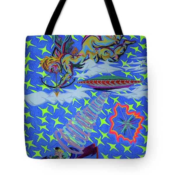 Saint Valentine  Love At 1st Sight Tote Bag by Robert SORENSEN