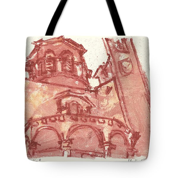 Tote Bag featuring the painting Saint Veran Cavaillon by Martin Stankewitz
