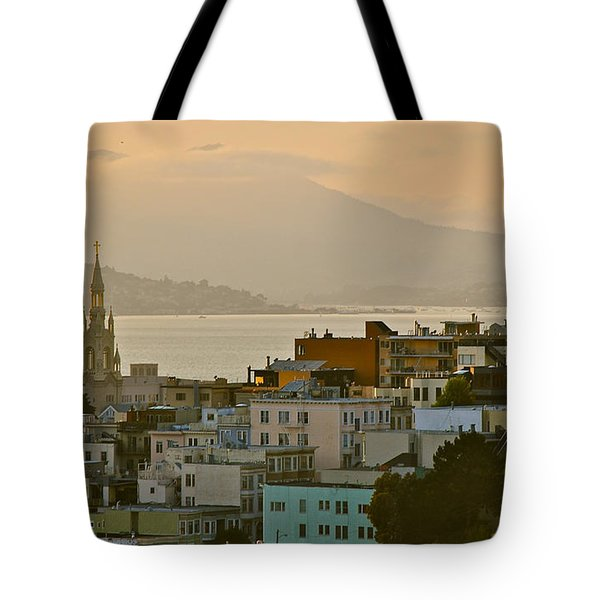 Saints Peter And Paul Spires Tote Bag