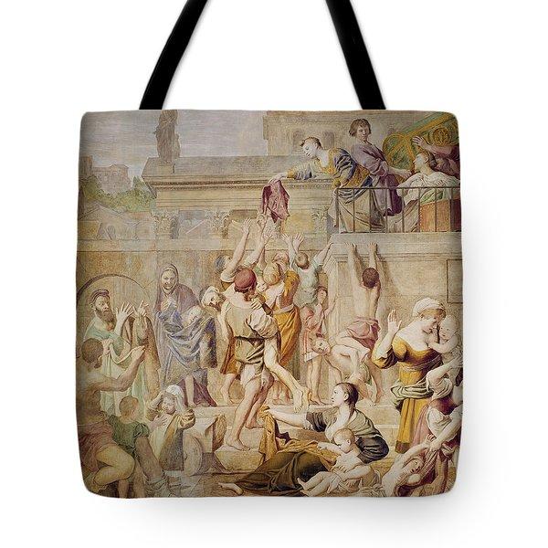 Saitn Cecilia Distributing Alms Tote Bag
