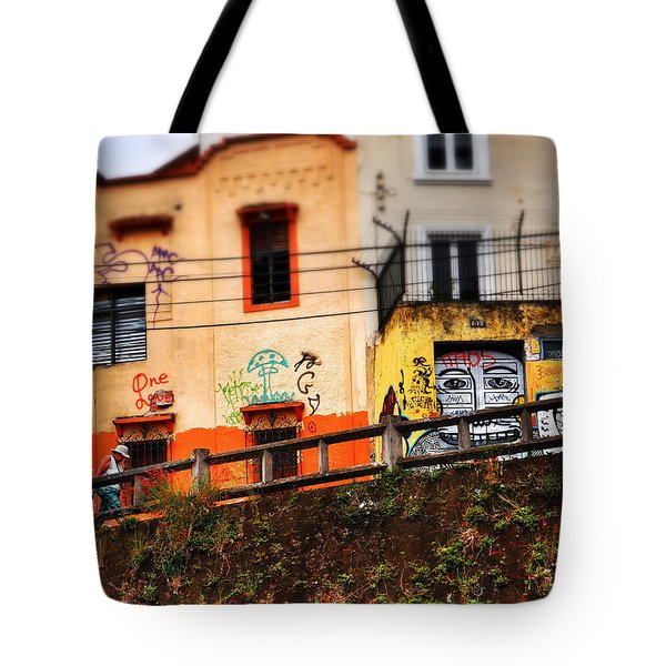 Tote Bag featuring the photograph Saks by Skip Hunt