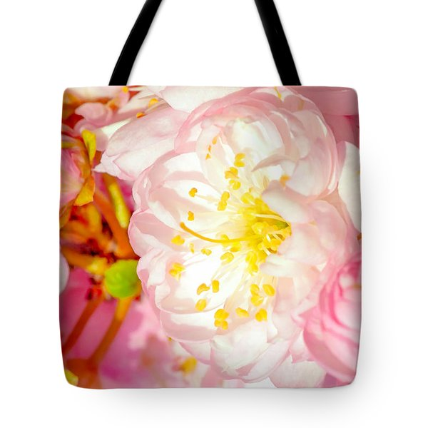 Tote Bag featuring the photograph Sakura Cherry Flower - Wedding Of Nature by Alexander Senin