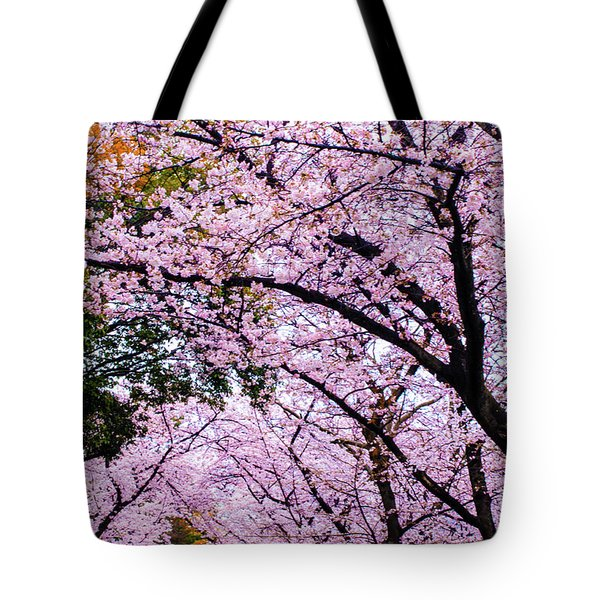 Tote Bag featuring the photograph Sakura by Helge