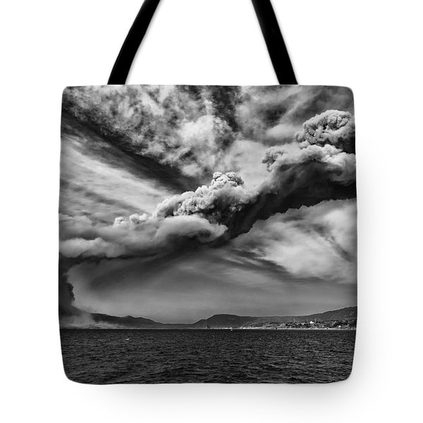 Sakurajima Volcano Tote Bag