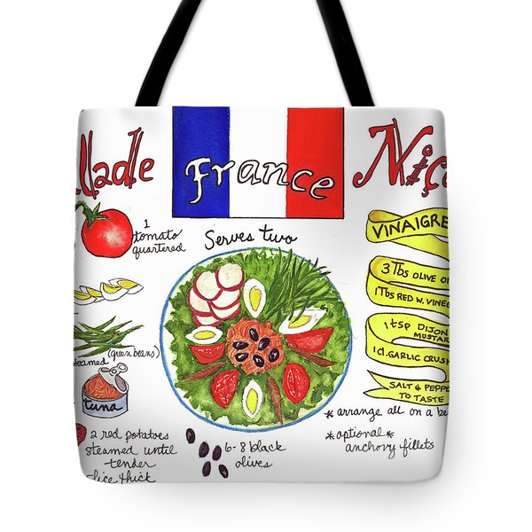 Tote Bag featuring the painting Salade Nicoise by Diane Fujimoto