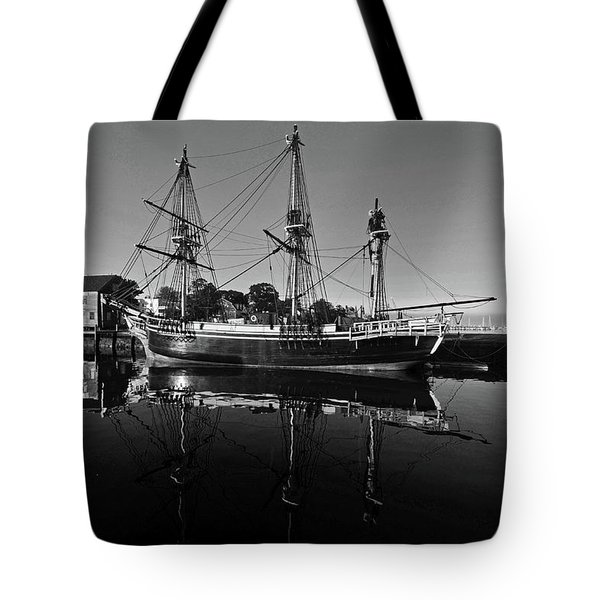 Salem Friendship Reflection Black And White Tote Bag