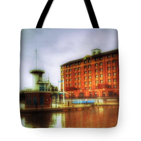 Tote Bag featuring the photograph Salford Quays Edge by Isabella F Abbie Shores FRSA