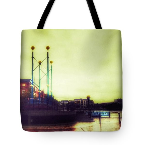 Tote Bag featuring the photograph Salford Quays Walkway by Isabella F Abbie Shores FRSA