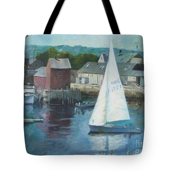 Saling In Rockport Ma Tote Bag