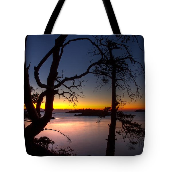 Salish Sunrise Tote Bag by Randy Hall