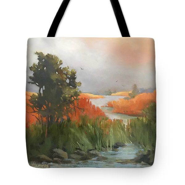 Salmon Creek Tote Bag