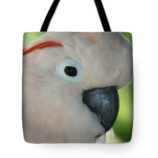 Salmon Crested Moluccan Cockatoo Tote Bag by Sharon Mau