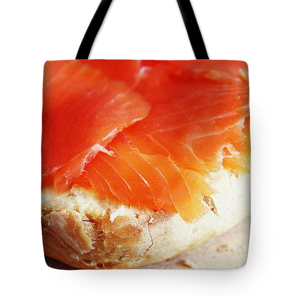 Salmon In Bread Tote Bag