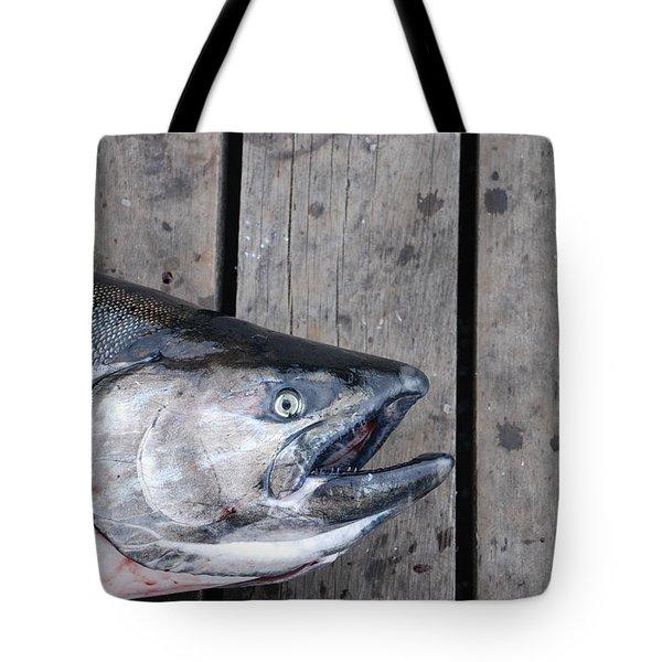 Salmon On Deck Tote Bag