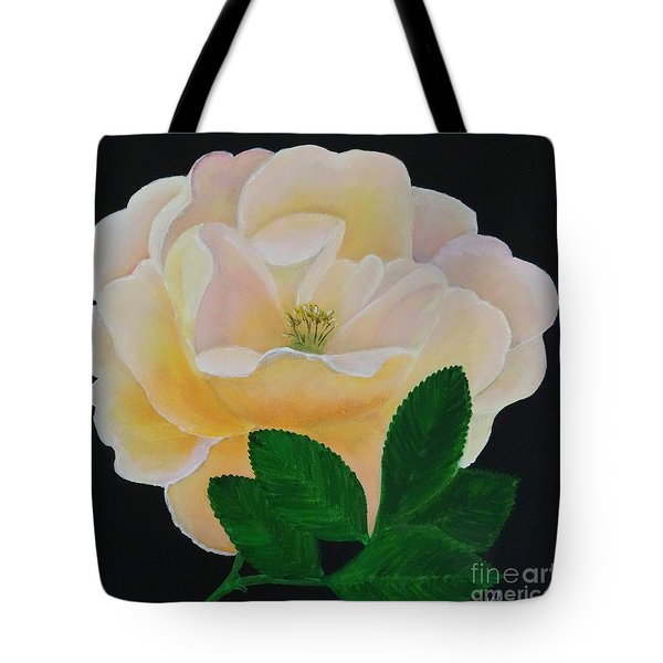 Salmon Pink Rose Tote Bag