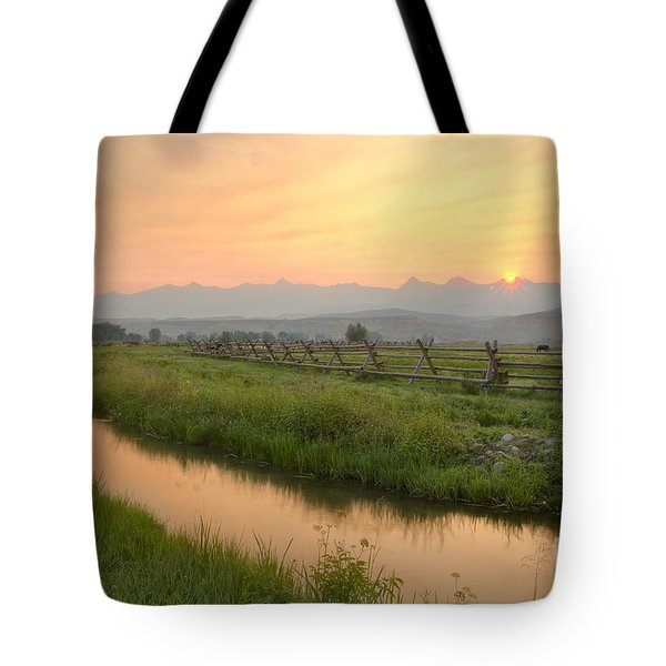 Salmon Sunrise Tote Bag