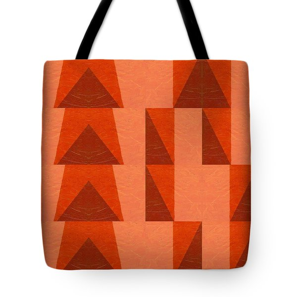 Salmon With Red And Brown Tote Bag by Michelle Calkins