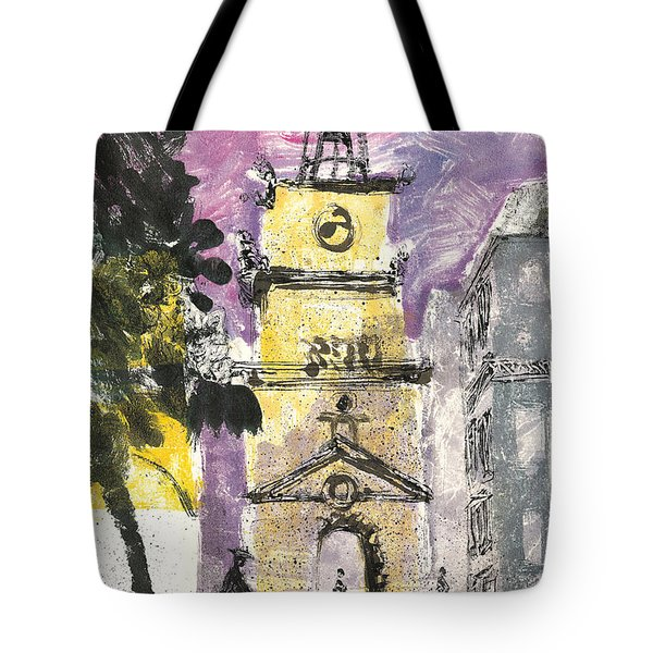 Tote Bag featuring the painting Salon De Provence by Martin Stankewitz