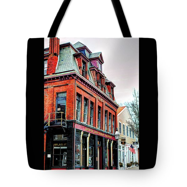Tote Bag featuring the photograph Saloon Bristol Ri by Tom Prendergast