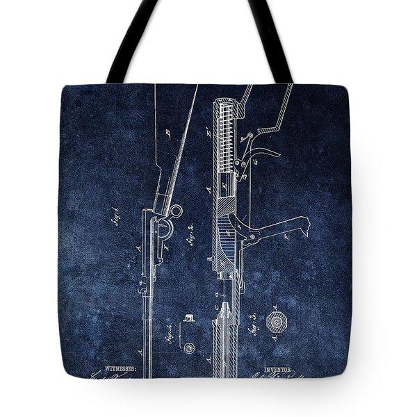 Saloon Gun Patent Tote Bag