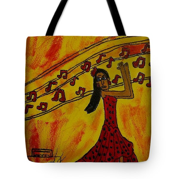 Salsa Dancer Tote Bag by Artists With Autism Inc