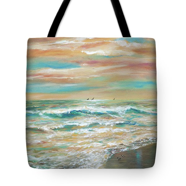 Tote Bag featuring the painting Salt Air by Linda Olsen