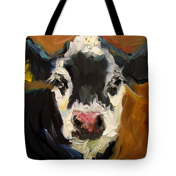 Salt And Pepper Cow Tote Bag