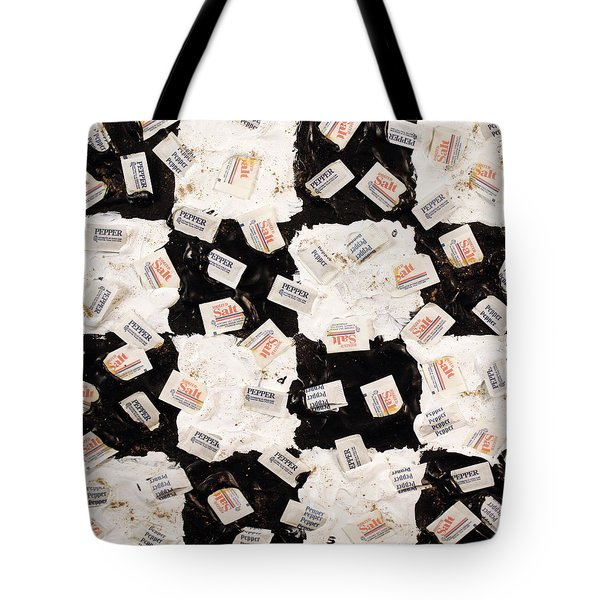 Tote Bag featuring the painting Salt And Pepper by Thomas Blood