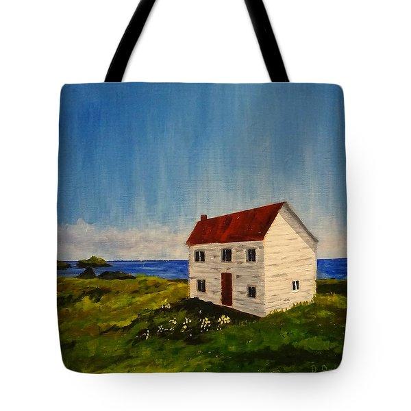 Saltbox House Tote Bag