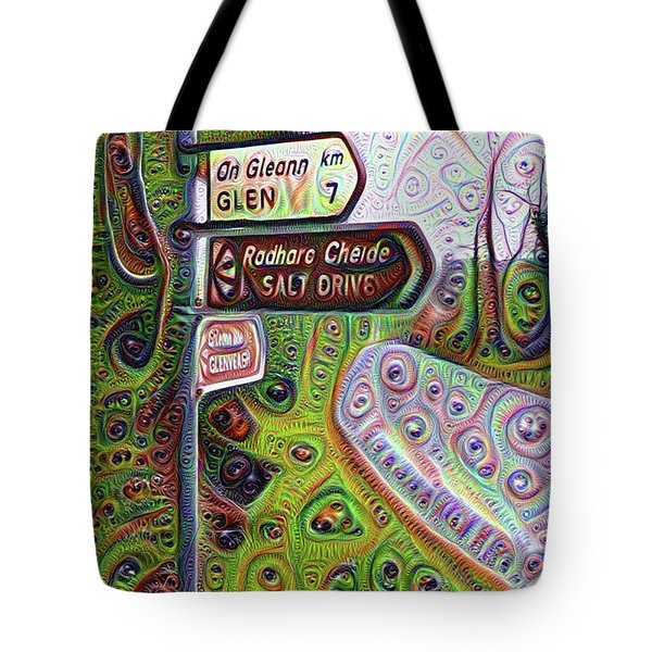 Salt Drive Road Sign - Donegal Ireland Tote Bag by Bill Cannon