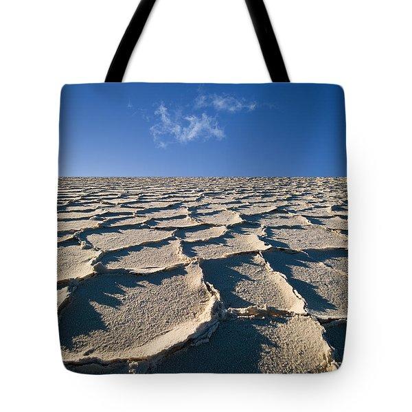 Salt Flats Death Valley National Park Tote Bag