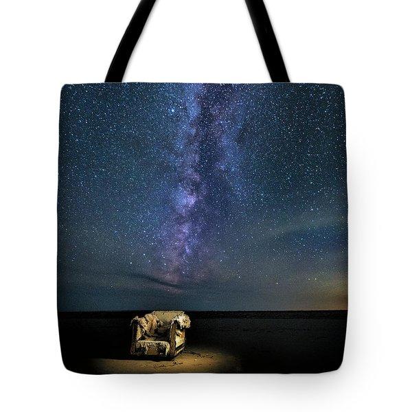 Salt Flats Milky Way Chair Tote Bag