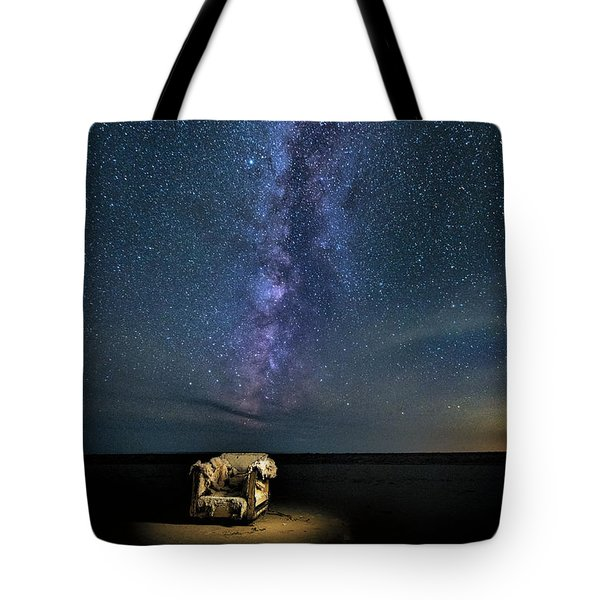 Salt Flats Milky Way Chair Tote Bag