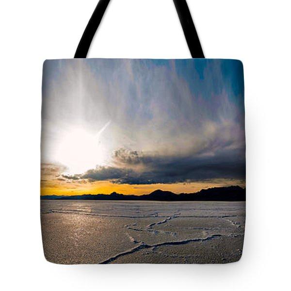 Salt Flats Sunset Tote Bag